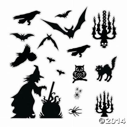Halloween Silhouette Silhouettes Kit Decorations Decoration Decor