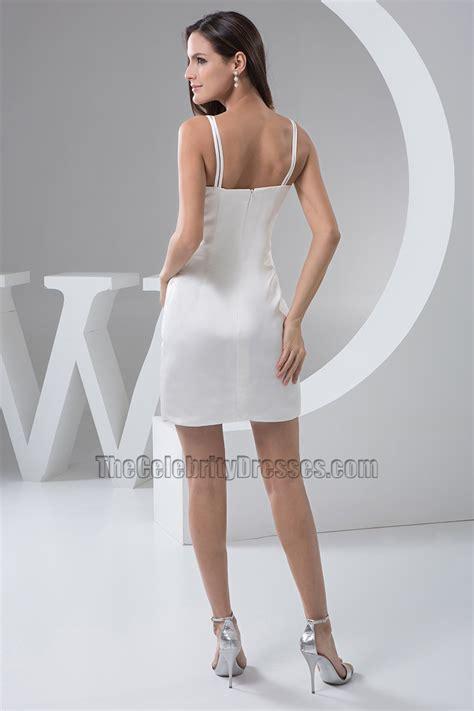 Sexy White Spaghetti Straps Cocktail Party Dresses