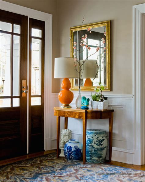 Accent Mirrors Entryway - enhance the entryway with decorative mirrors