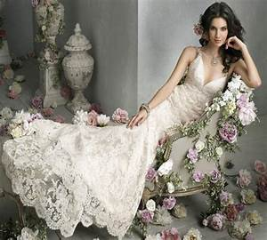 Gorgeous wedding dress vintage lace wedding dress for Lacy wedding dresses