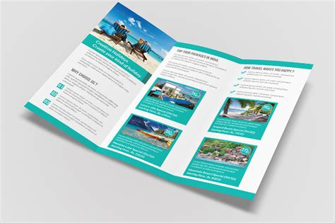 Brochure 3 Fold Template Psd Travel Brochure Template 3 Fold 22 Travel Brochure