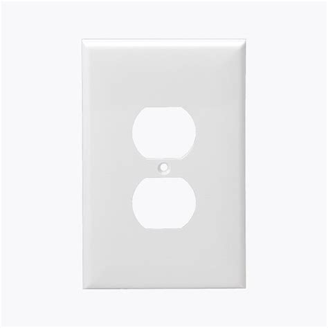 plastic wall plates  gang duplex outlet cover enerlites