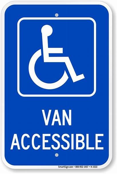 Accessible Van Signs Parking Ada Sign Handicapped