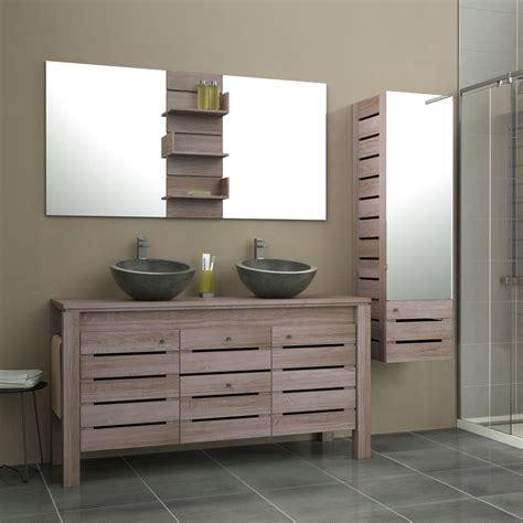 leroy merlin meuble salle de bain meuble de salle de bains plus de 120 brun marron moorea leroy merlin