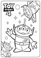 Coloring Toy Story Printable Aliens Disney Pdf Pixar Sheets Toystory Peep Bo Printables Coloriage Forky Children Alien Gabby Cartoon Coloriages sketch template