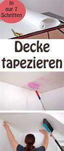 Vliestapete Auf Raufaser : decke tapezieren auch bei der decke muss alles in geraden bahnen verlaufen parallel zur wand ~ Avissmed.com Haus und Dekorationen