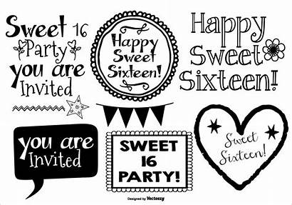 Sweet Vector Drawn Clipart Graphics Lables