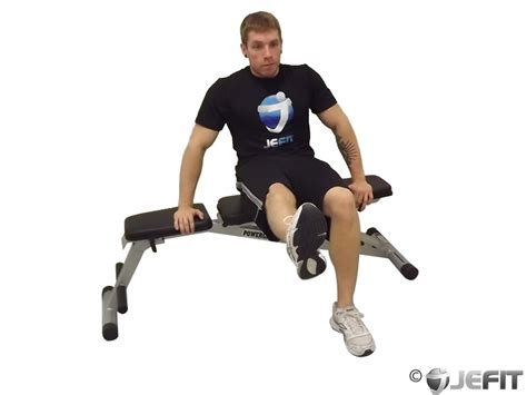 Chair Crunch Bodybuilding by Chair Leg Extended Stretch Exercise Database Jefit