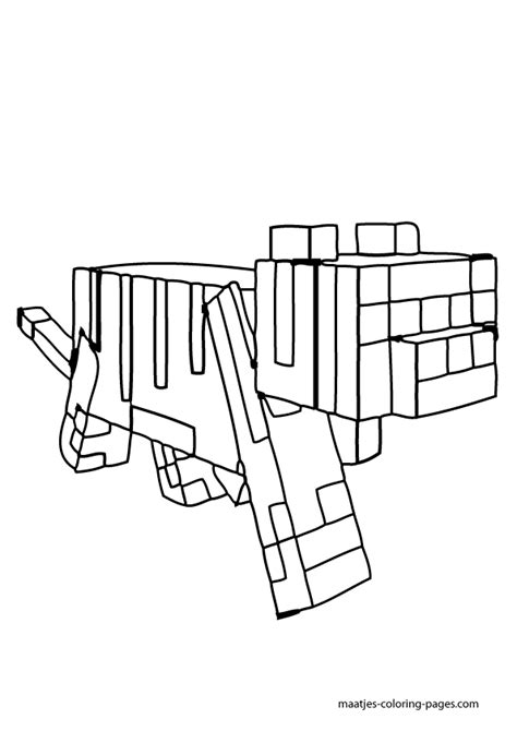 Minecraft Coloring Pages Cat  Coloring Home