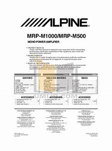 Download Free Pdf For Alpine Mrp