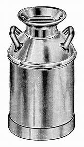 vintage milk can clip art, old fashioned milk container ...