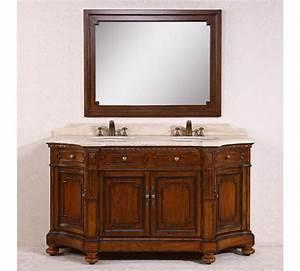 68 inch double sink bathroom vanity with travertine top With 68 inch bathroom vanity