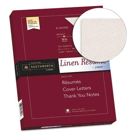 southworth linen resume envelopes southworth 174 100 cotton linen resume paper 32lb 8 1 2 x 11 almond 100 sheets sourd18acfln