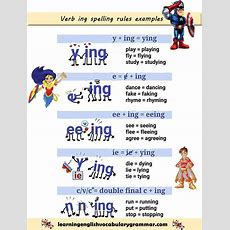 Verb Ing Spelling Rules Examples  Salón  Spelling Rules, English Grammar, Teaching English