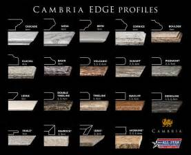 kitchen islands with granite countertops cambria 19 different edge profiles cambria quartz