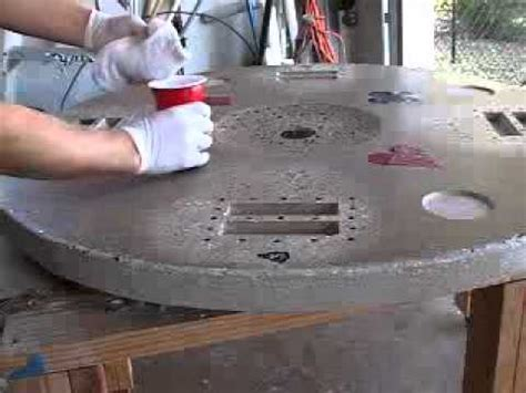 how to make a concrete table video 5 of 5 how to make a concrete tabletop or poker