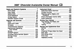 2007 Chevrolet Avalanche Owners Manual