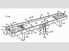 Patent US6279905 Shuffleboard game with air cushion