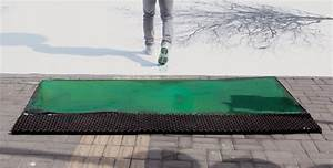 Leaves of footprints showme design for Green pedestrian crossing in china creates leaves from footprints