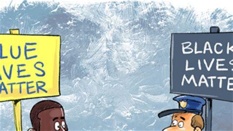 black blue lives matter cartoon cartoon