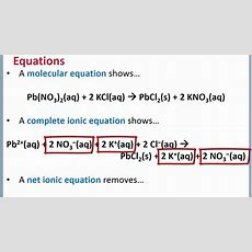 Chemistry 101  Complete Ionic And Net Ionic Equations For Precipitation Reactions Youtube