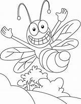 Bee Coloring Honey Pages Sky Cliparts sketch template