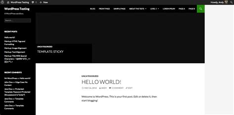 Wordpress Front End Vs. Back End