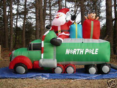 long lighted christmas santa  wheeler truck