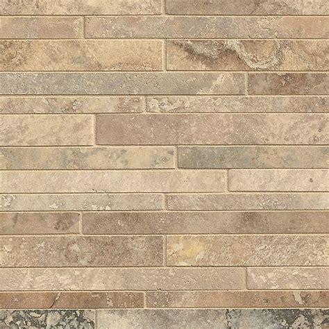 tilecrest travertine random linear mosaic tile