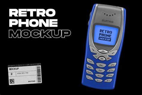 retro phone mockup   phone mockup retro phone phone