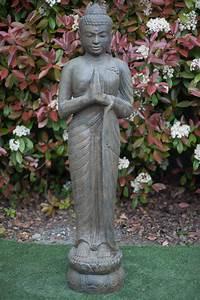 Statue Bouddha Maison Du Monde : statue bouddha debout anjali mudra 150 cm marron antique ~ Teatrodelosmanantiales.com Idées de Décoration