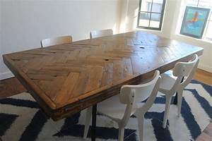 Herringbone Dining Table Made to Order