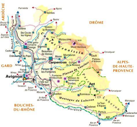 Carte De Avignon 84 by Departement Du Vaucluse 84