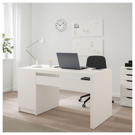 bureau malm malm bureau wit 140x65 cm ikea