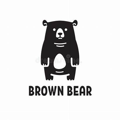 Bear Stylized Cartoon Grizzly Brown Predator Head