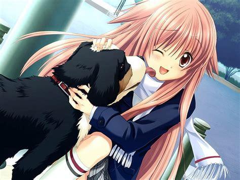 Anime School Girl With Dog Kaydeesalih Flickr