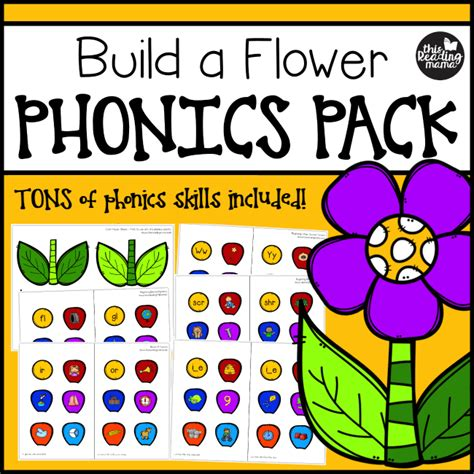 build  flower phonics pack  reading mama