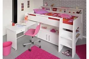 Lit En Hauteur Enfant : lit enfant blanc mi hauteur ~ Preciouscoupons.com Idées de Décoration