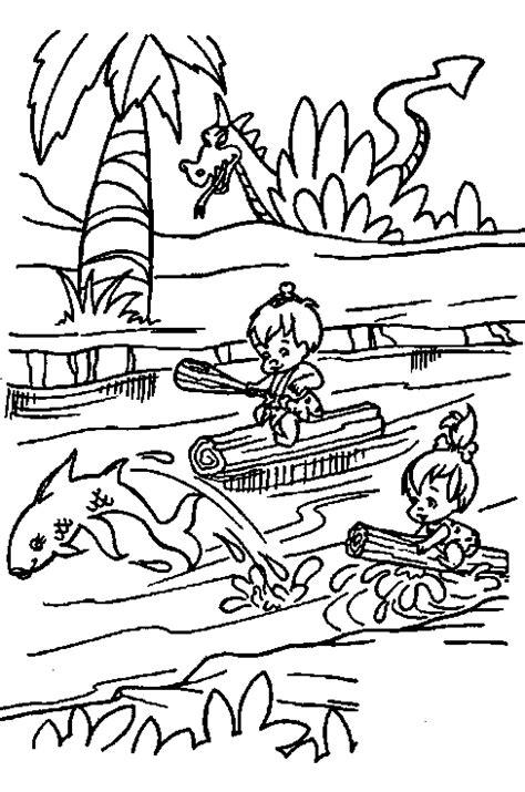 Kleurplaat Billy En Bambam by Kleurplaten Flintstones