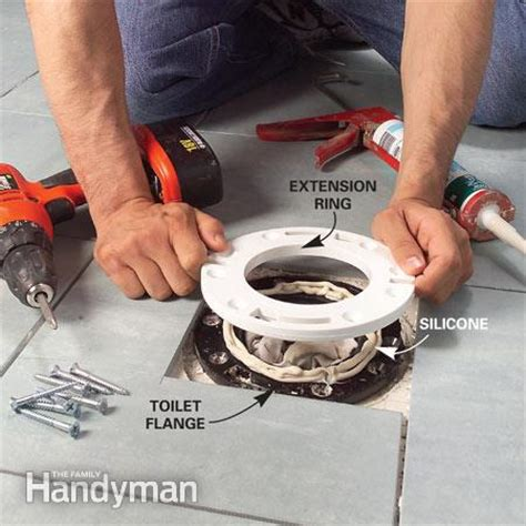 How To Install Bathroom Tile Around Toilet Install A Ceramic Tile Floor In The Bathroom The Family