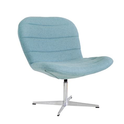 wool upholstered reception lounge chair light blue