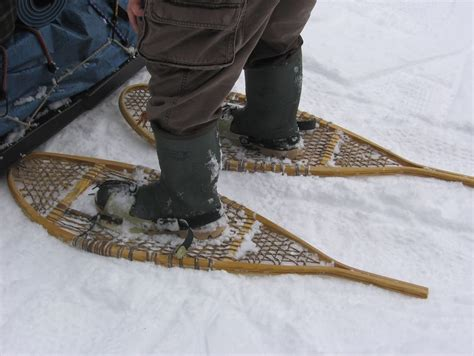 flat shoes for getting started with snowshoeing