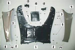 Floor Panel Parts For Your 125cc Or 150cc Gy6 Scooter  Find A New Battery Case  Side Floor Cover