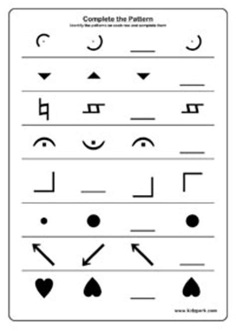 pattern filling activity sheet   grade