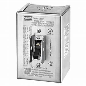 Hubbell Hbl1379d - 30a 600v 3-phase 3-pole Non-fusable Disconnect Switch - Nema 1