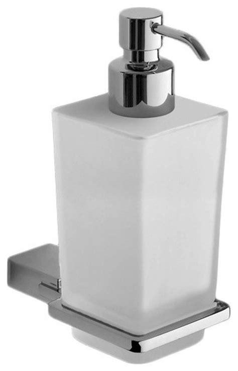 3311 square soap dispenser shop houzz wall mounted square frosted glass soap
