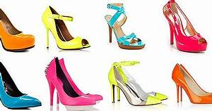 OH LA LA Celeb Fashion Trend Neon Colored Shoes