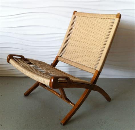 wegner style yugoslavian folding rope chairs modern
