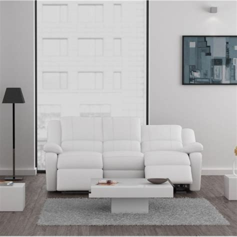 canape relax 3 places relax canap 233 3 places relaxation cuir et simili blanc
