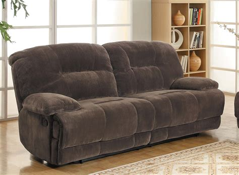 dual reclining sofa homelegance geoffrey sofa dual recliner chocolate